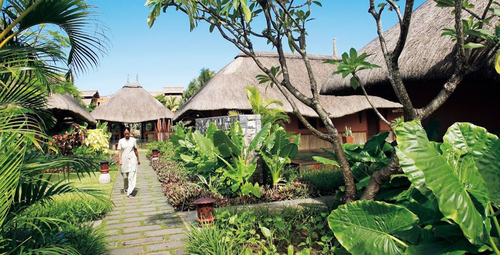 Au cœur de magnifiques jardins tropicaux