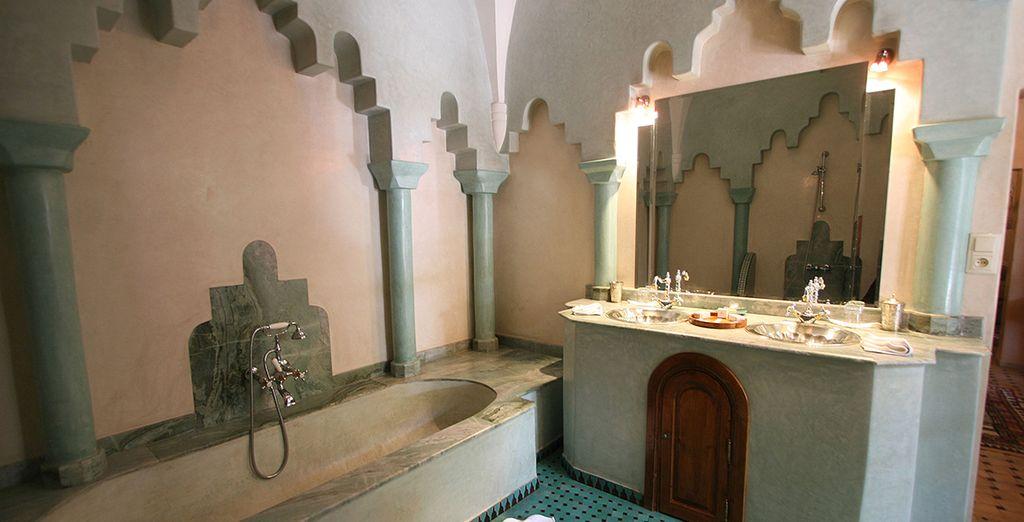 Et appréciez votre salle de bain à la décoration tout aussi authentique