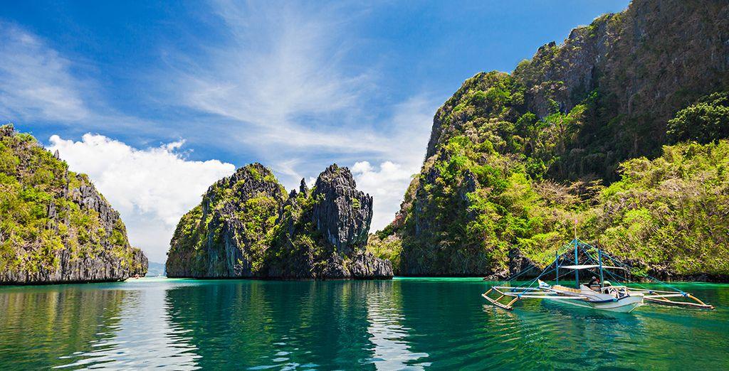 Photographie de l'archipel des Philippines et paysages verdoyant à couper le souffle