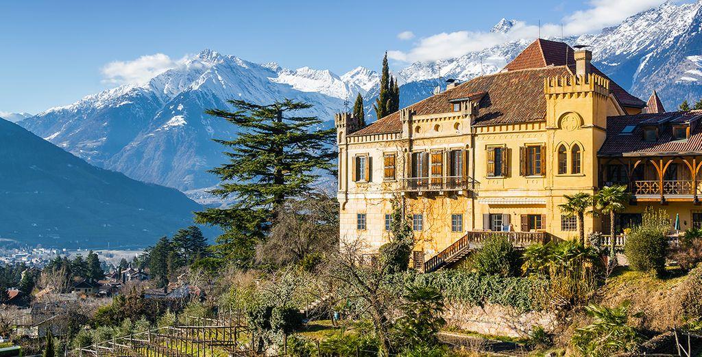 Paesaggi e montagne innevate in Italia