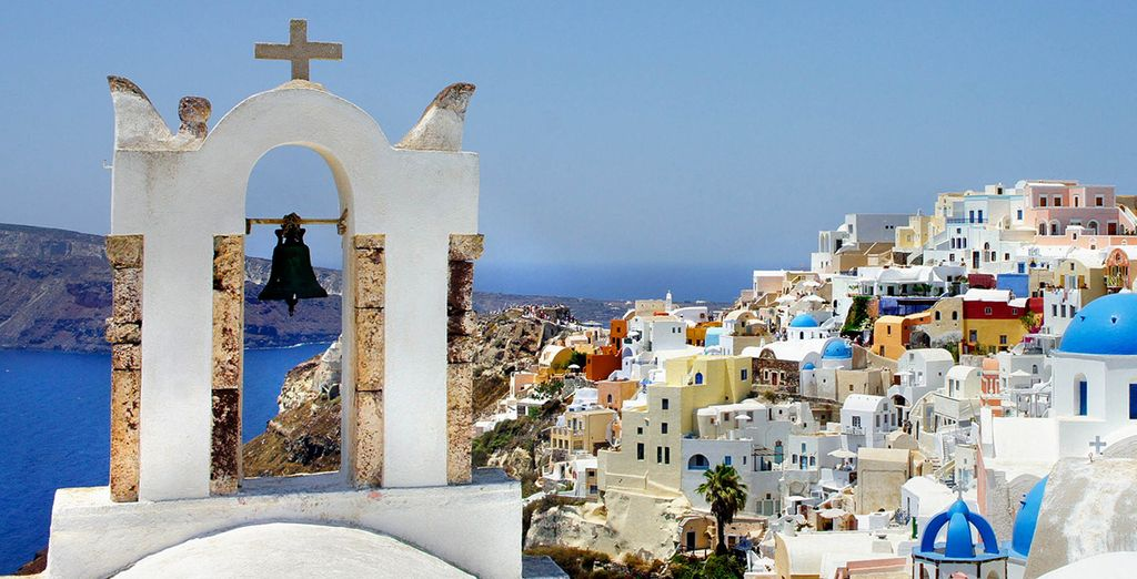 Photographie de la ville de Santorin