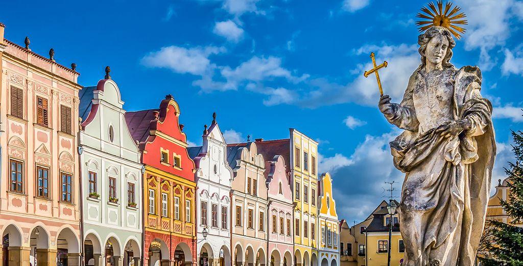 Vous découvrirez les attraits de la Bohême du Sud et de la magnifique ville de Jihlava, aux 213 monuments protégés.