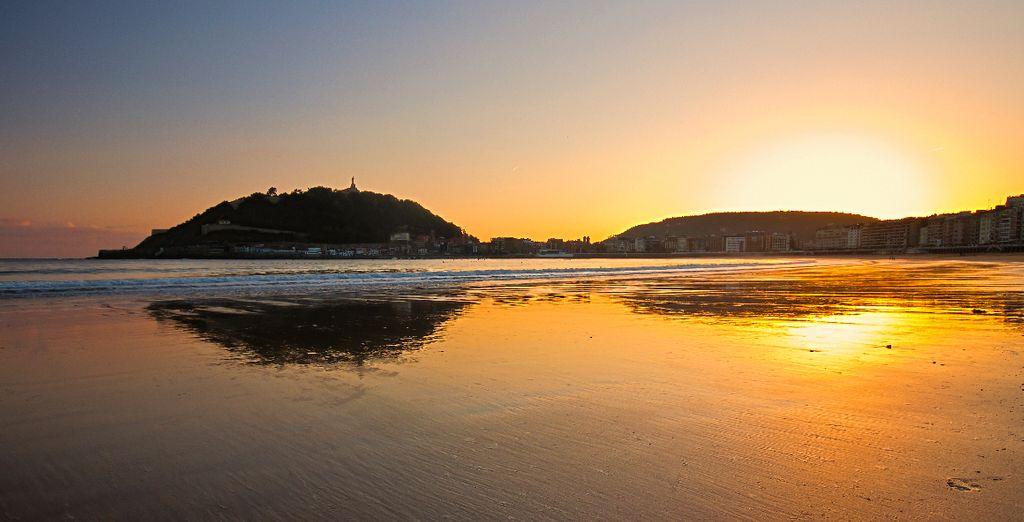 Longues balades sur la plage de La Concha...