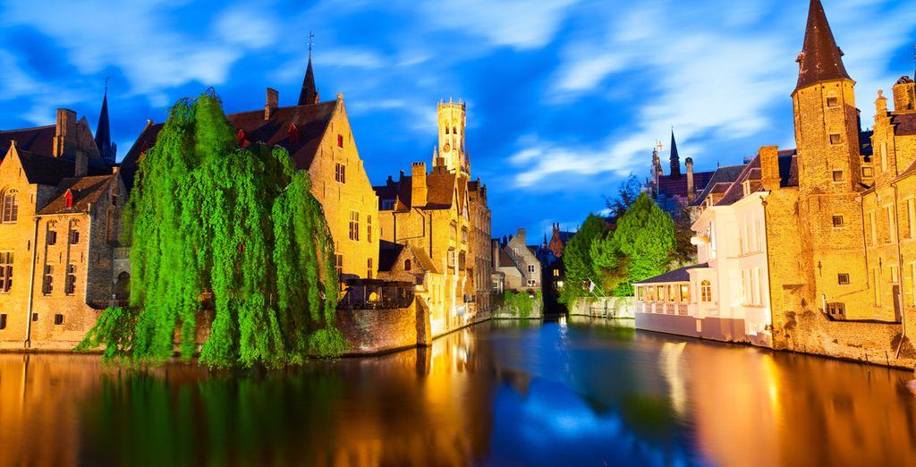 Photographie d'une ville de Belgique
