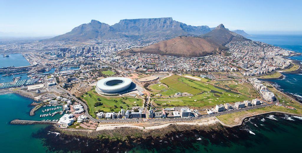 Au départ de l'incroyable Cape Town...