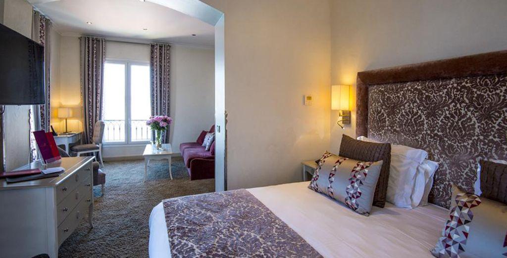 Ou optez pour une Junior Suite avec terrasse privée