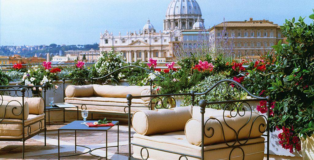 Offrant un panorama imprenable sur Rome !