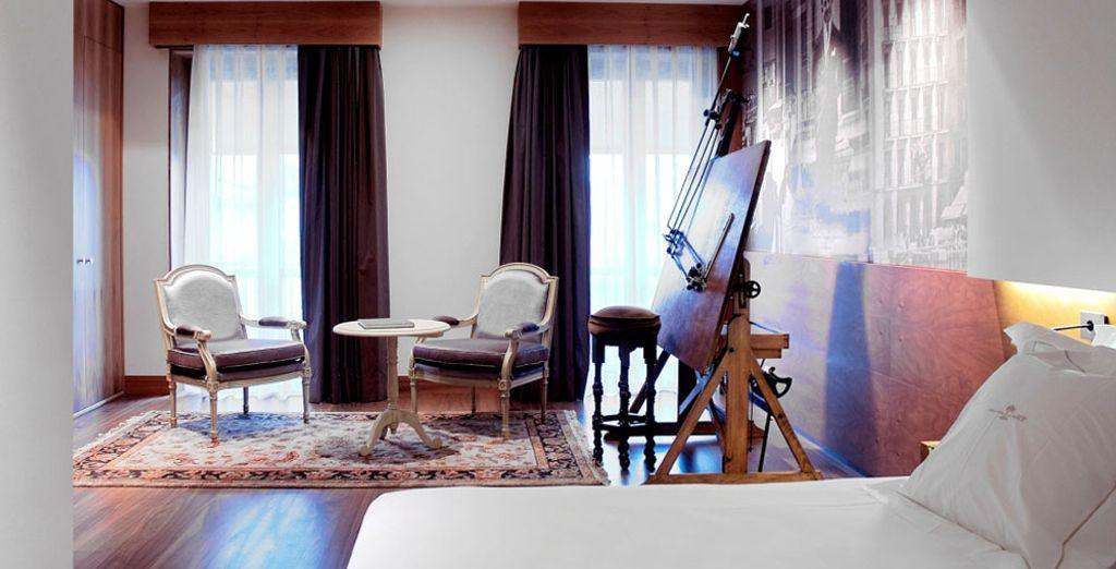 Offrez-vous le confort de la Suite Junior historique du Gran Hotel La Perla 5*