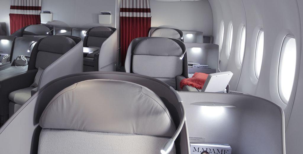 A bord, installez-vous confortablement dans votre cabine