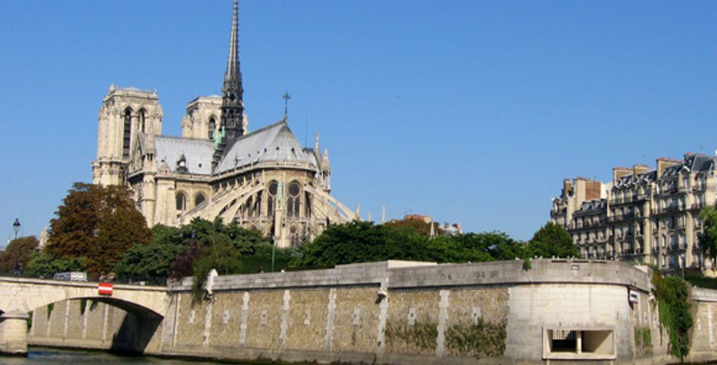 La cathédrake Notre Dame de Paris