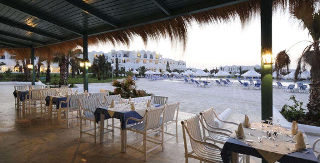 La terrasse d'un des restaurants