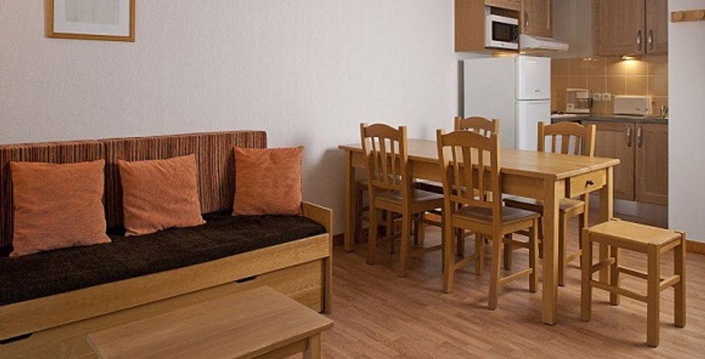 L'appartement : le coin repas