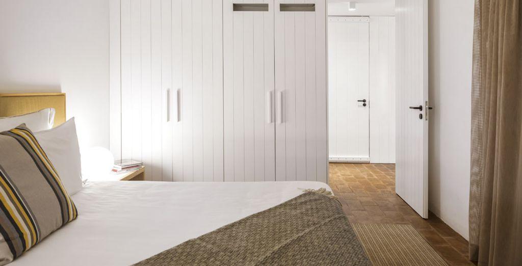 Et d'un très grand lit double de plus de 2 mètres, pour des nuits des plus agréables