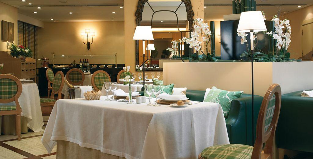 Dégustez des plats typiques Espagnols au restaurant de l'hôtel