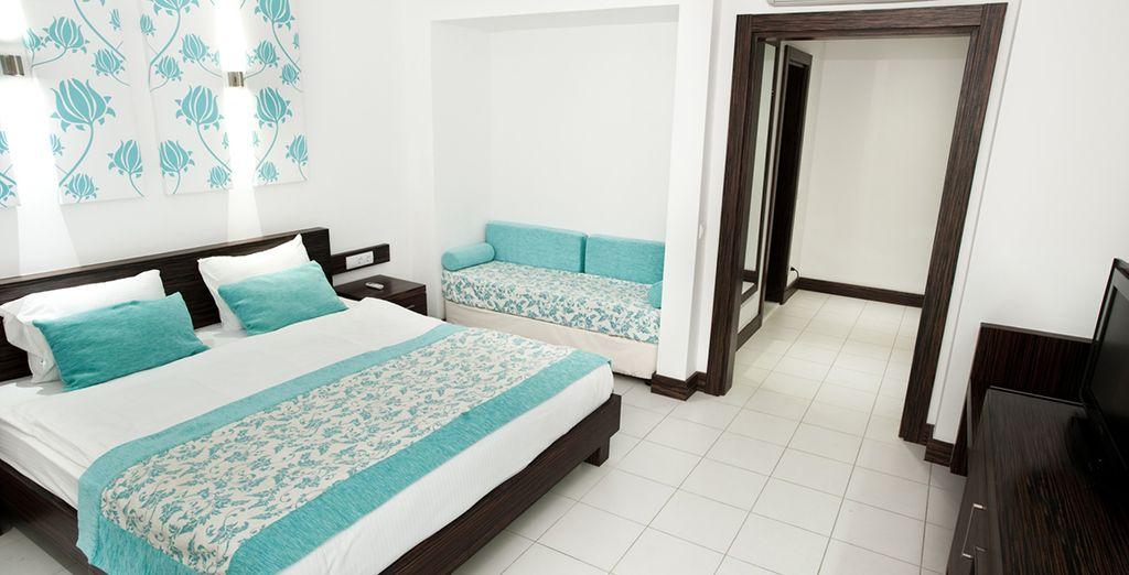 Logé en chambre Standard, spacieuse et lumineuse...