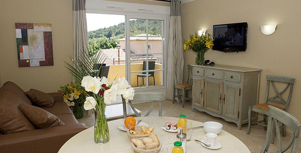 Profitez du confort de votre spacieux appartement