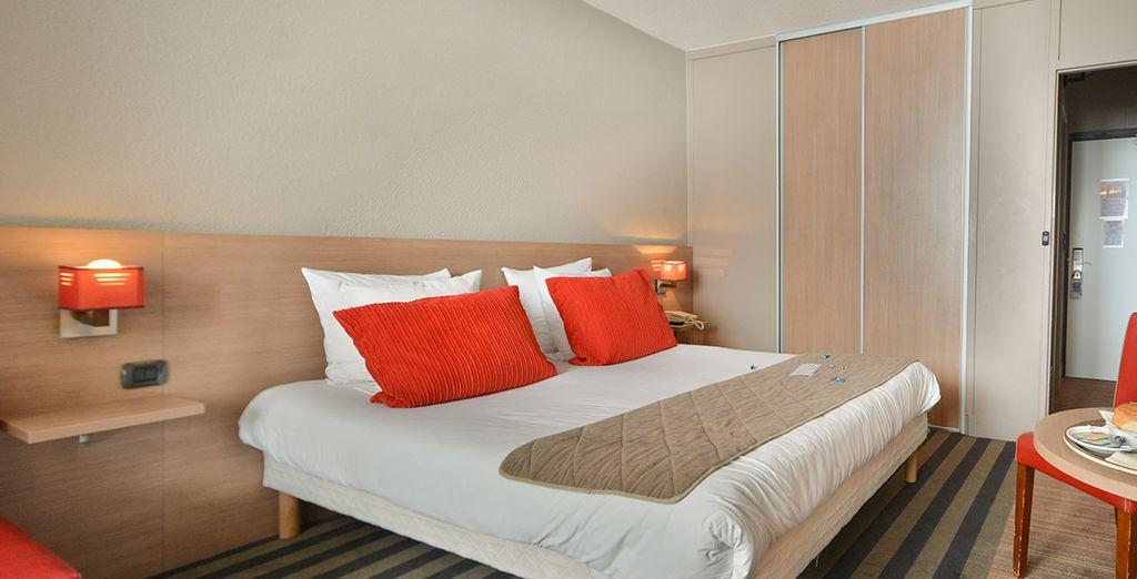 Dans une chambre agréable, cosy et colorée !