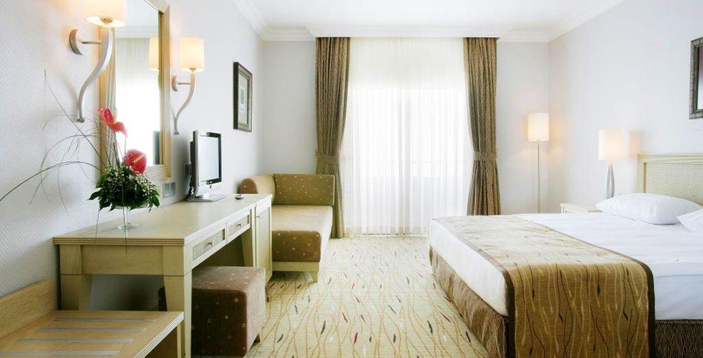 Vous logerez en agréable chambre Standard...