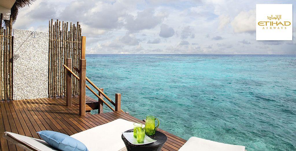 Goûtez au luxe d'une villa sur pilotis...