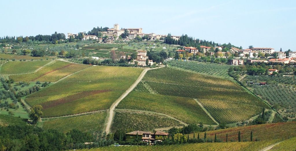 Vous visiterez également San Gimigniano