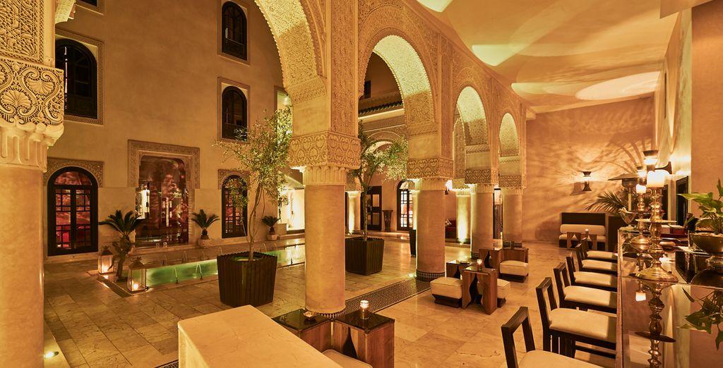 De retour au Riad, le patio vous invite à un moment de détente