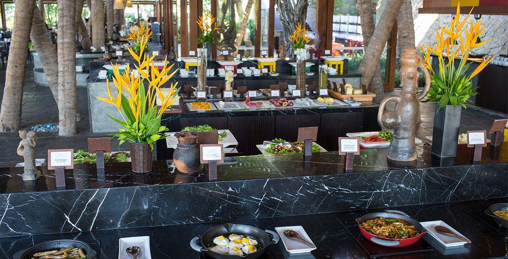 Prenez le temps de découvrir une cuisine aussi saine que savoureuse au restaurant de l'hôtel...