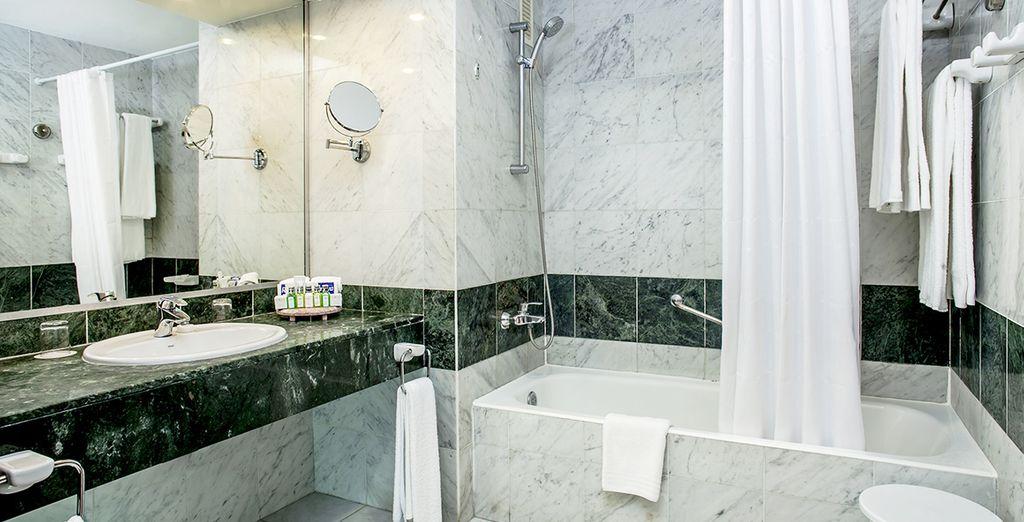 Sa salle de bain luxueuse