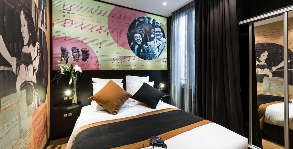 Découvrez la chambre Deluxe Marcel Cerdan et Edith Piaf