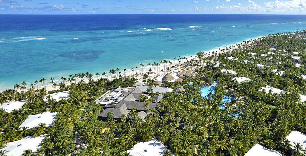 Direction Punta Cana et la plage de Cortecit...