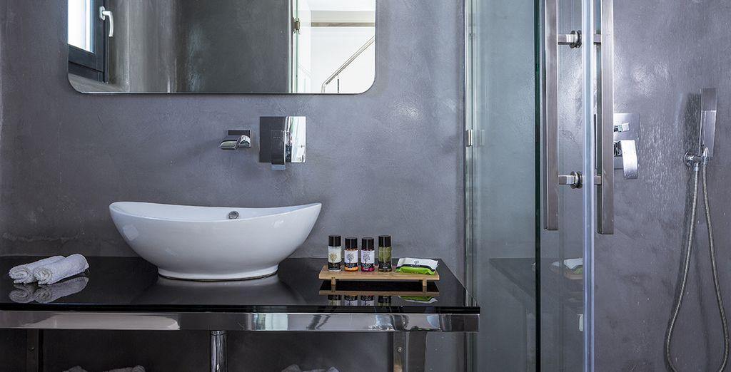Une salle de bains agréable...