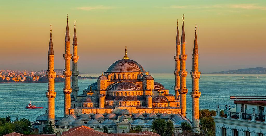 Depuis la Mosquée Bleue dans la vieille ville...
