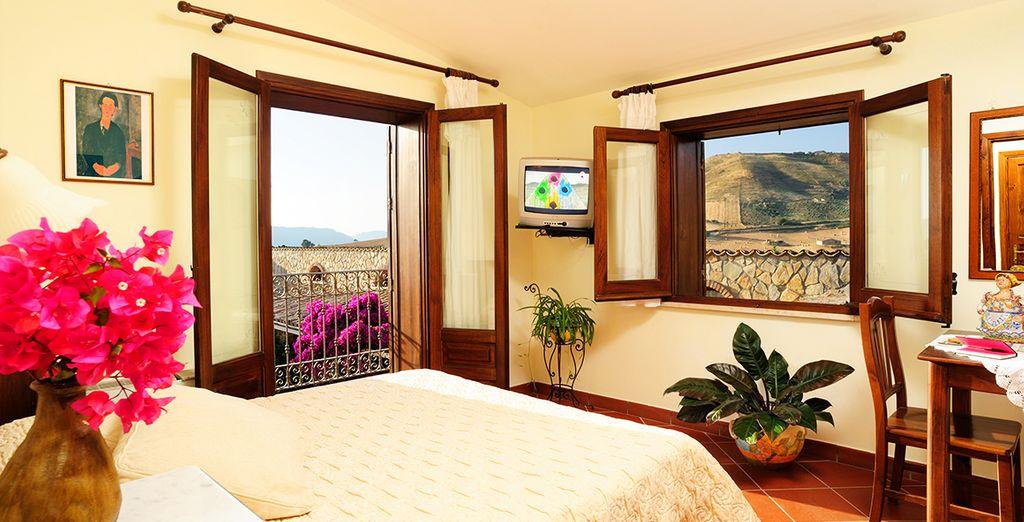Vous profiterez du confort et de l'élégance de votre chambre