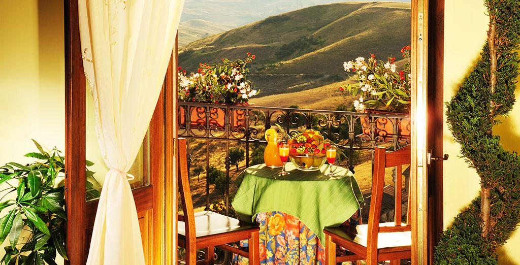 Face aux paysages typiques de la Sicile