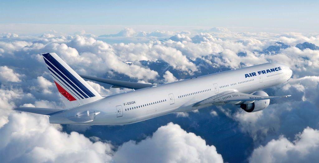 En osant le luxe d'un voyage avec La Première Air France