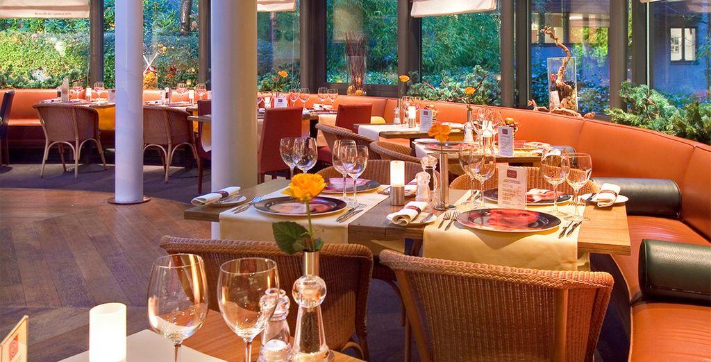 Et savourez l'atmosphère apaisante du restaurant l'Objectif