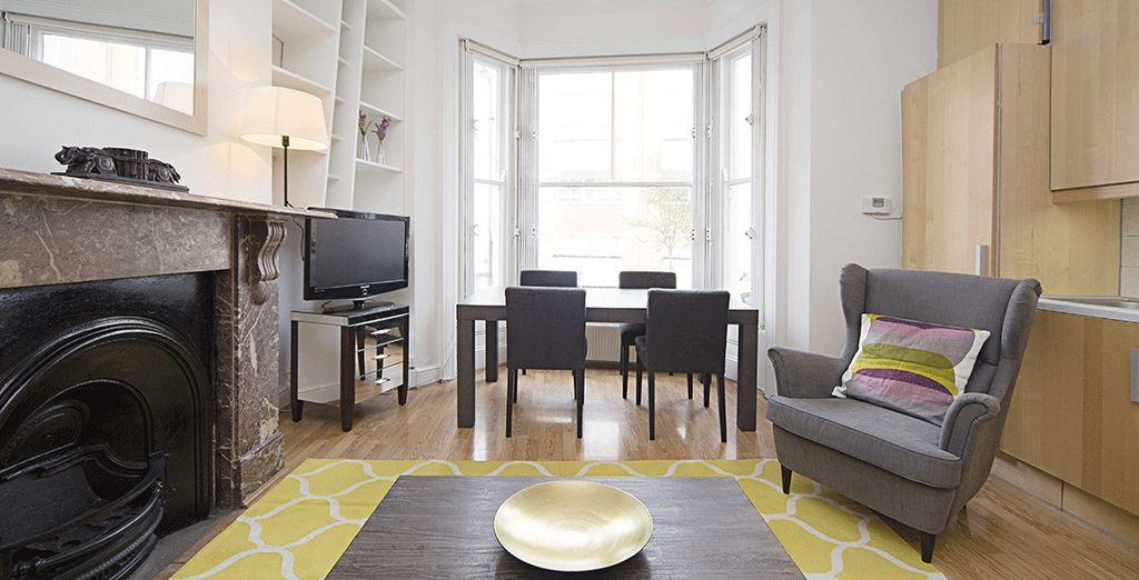Le salon vu d'un autre angle - Appartement 2 chambres jusqu'à 6 personnes Londres
