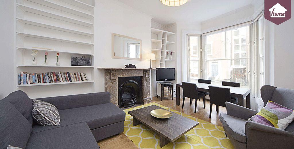 Imaginez-vous confortablement installé dans votre salon - Appartement 2 chambres jusqu'à 6 personnes Londres