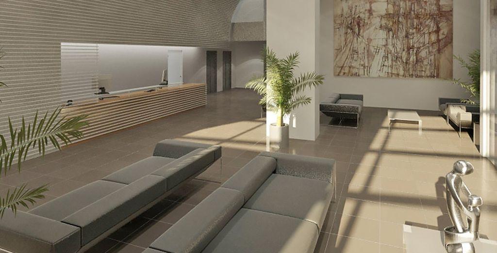 Un lobby moderne et accueillant...