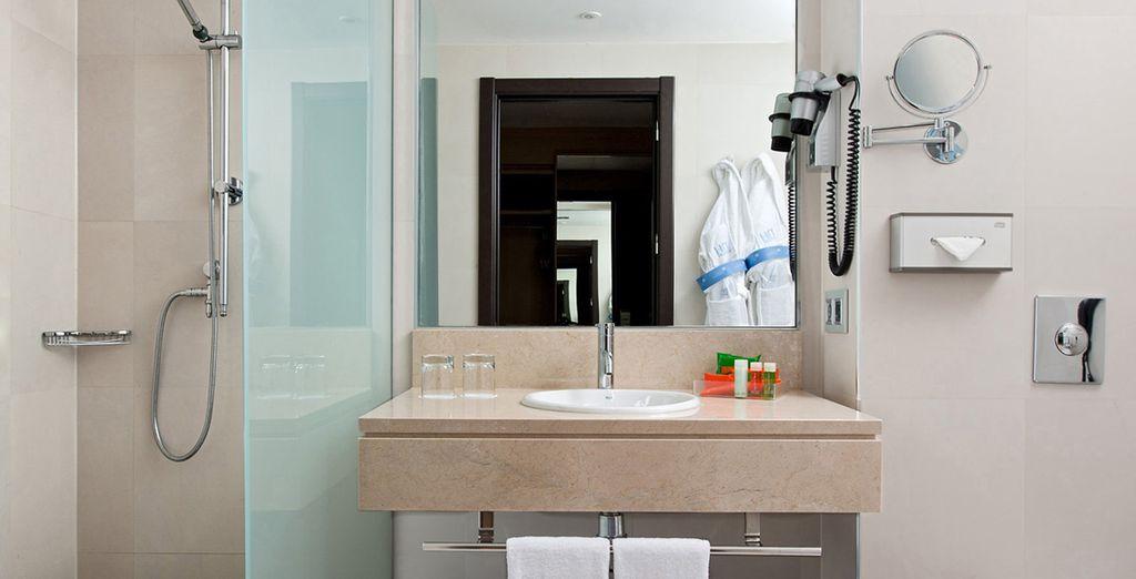 Équipée d'une salle de bains