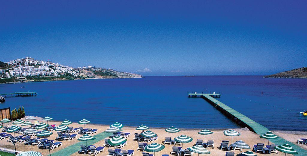 Idéal pour un séjour en Turquie, les pieds dans l'eau...