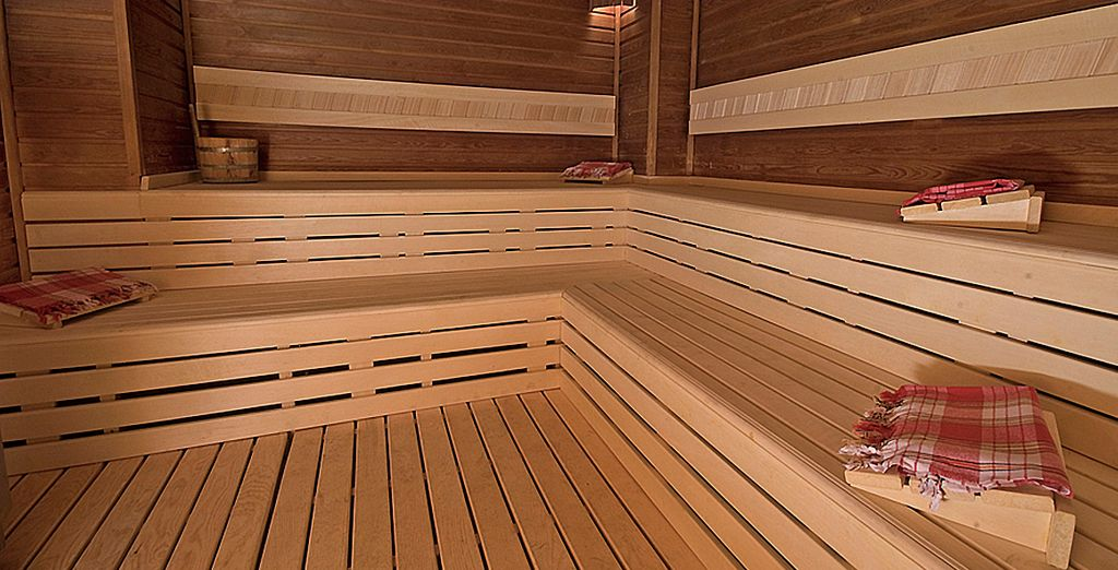 Ou dans la chaleur sèche du sauna...