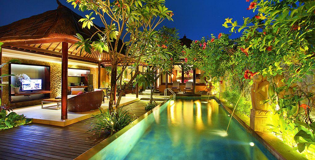 Votre terrasse donnant sur la piscine
