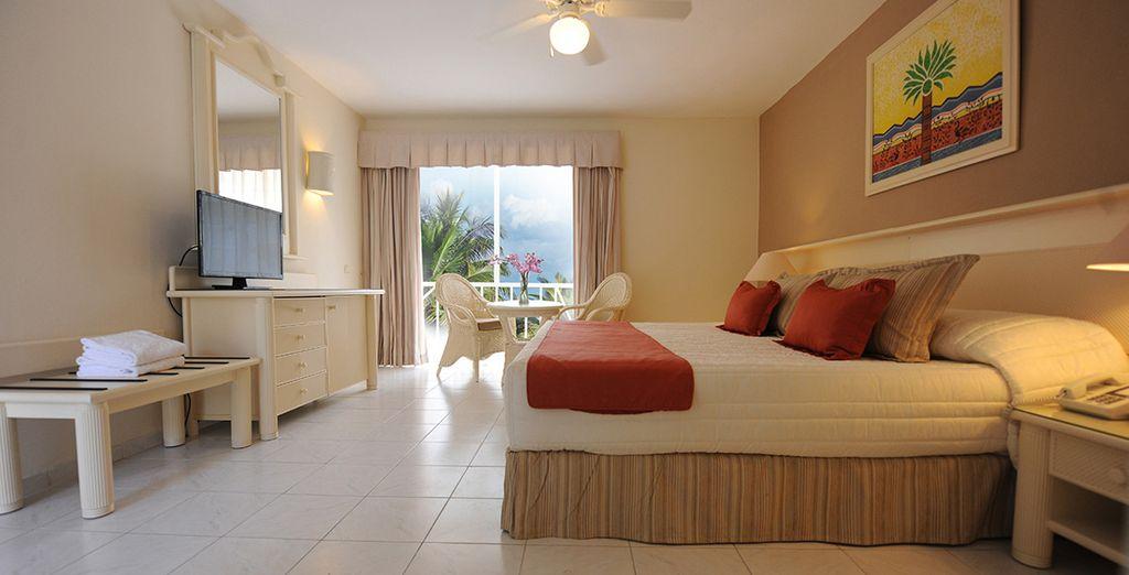 Confortablement installé dans votre chambre Standard entièrement rénovée