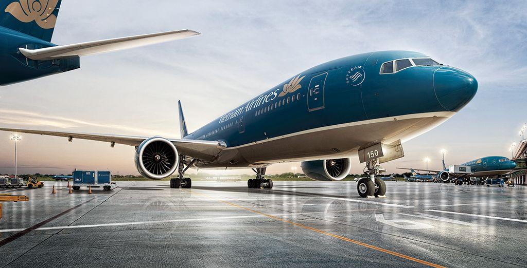 Choisissez en option et avec supplément de vous envoler avec Vietnam Airlines