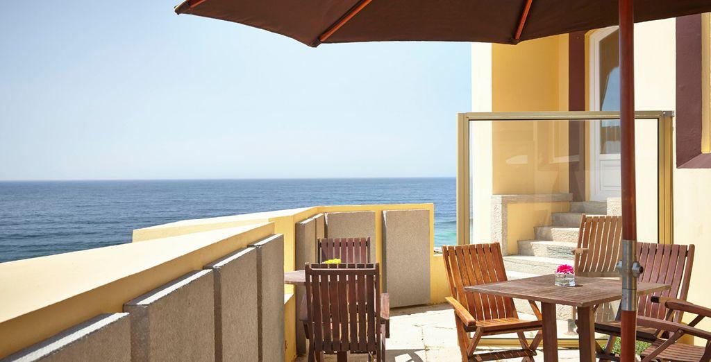 Et sur la terrasse avec vue sur la mer