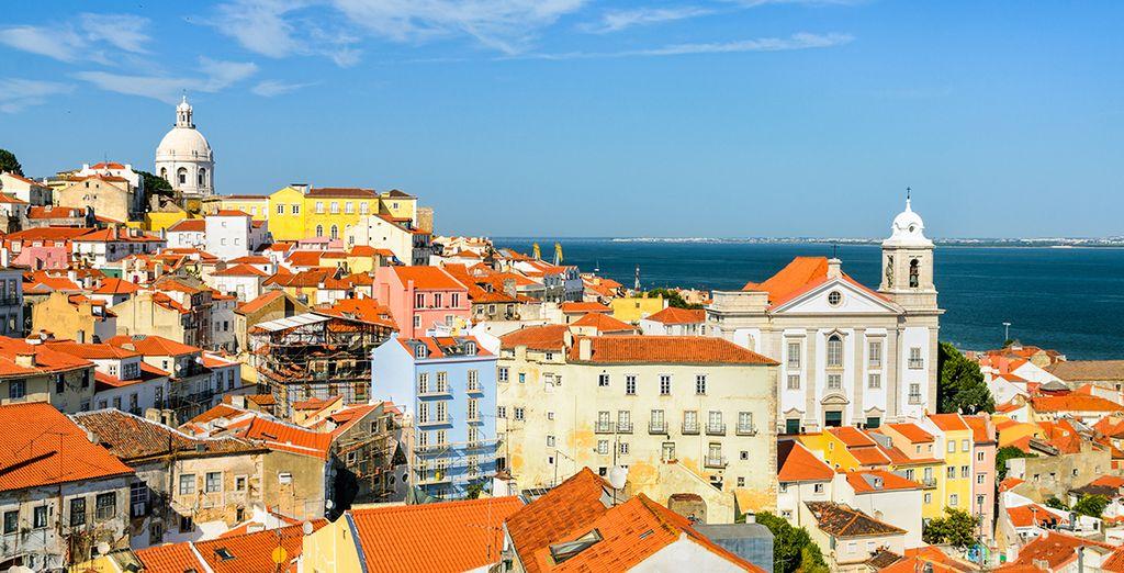 Ville de Lisbonne et vue sur le Tage