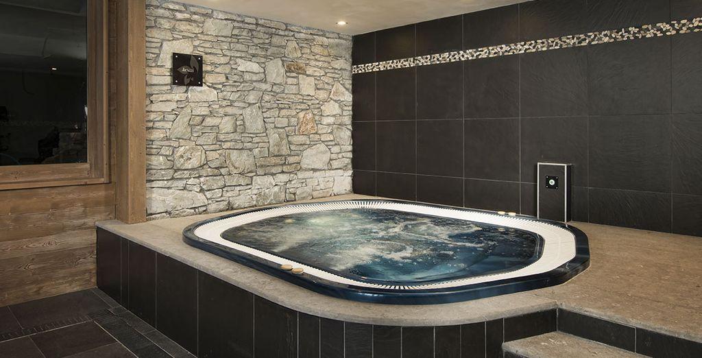 Pour un moment de relaxation bien mérité, dans le bain à remous...