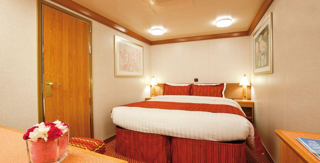 Hébergement au cœur d'un navire de croisière tout confort sélectionné par Voyage Privé