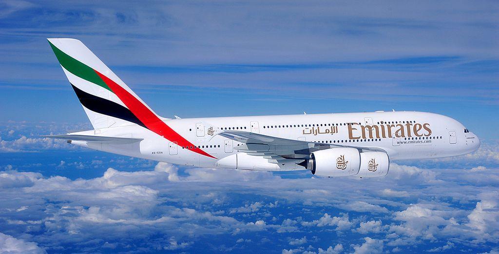Rejoignez cette terre de merveilles en choisissant en option et avec supplément la compagnie Emirates