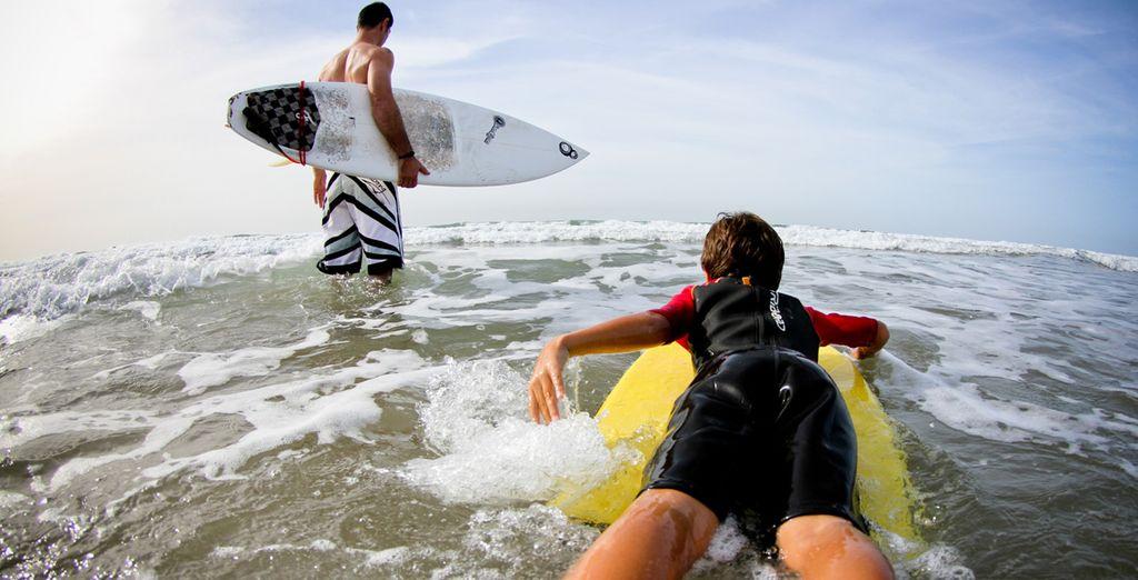 Ou même le surf, en famille ou entre amis...